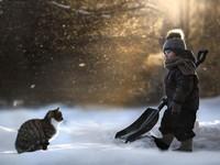 Bộ ảnh tuyệt đẹp về tình bạn của trẻ thơ và động vật