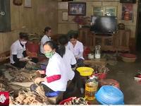 Làng nghề bánh gai tại Hải Dương tất bật chuẩn bị hàng Tết
