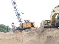 Nhiều cửa hàng bán cát gặp khó do giá cát xây dựng tăng mạnh