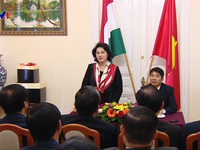 Chủ tịch Quốc hội gặp gỡ cộng đồng người Việt tại Hungary