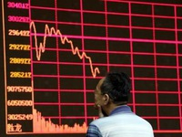 Thị trường chứng khoán châu Á tràn ngập sắc đỏ