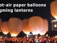 Lung linh lễ hội đèn lồng cầu hạnh phúc tại Vân Nam (Trung Quốc)