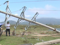 Khó khăn khắc phục lưới điện sau bão số 10