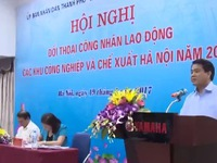 UBND TP Hà Nội đối thoại với công nhân