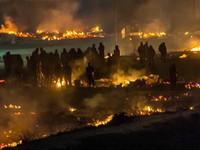 Cháy trại tị nạn ở Pháp, ít nhất 10 người bị thương