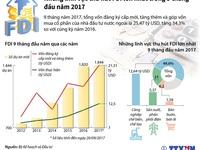 Những lĩnh vực thu hút FDI lớn nhất trong 9 tháng đầu năm 2017