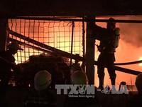 Cháy dữ dội ở công ty Dệt may Thành Công, TP.HCM