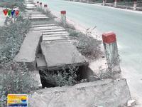 Nguy hiểm từ những thanh đan mương thoát nước tại Khánh Hòa