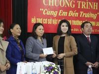 Quỹ Tấm lòng Việt hỗ trợ Trường mầm non Lam Điền 20 triệu đồng để cải thiện cơ sở vật chất