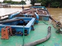 Vĩnh Long: Kiểm tra hoạt động khai thác cát trên sông Hậu