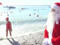 Người dân Pháp tắm nước lạnh chào đón Giáng sinh