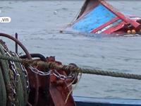 Cứu nạn 6 thuyền viên của tàu cá Khánh Hòa bị chìm trên vùng biển Ninh Thuận