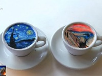'Cà phê tranh' hút hồn giới trẻ Hàn Quốc