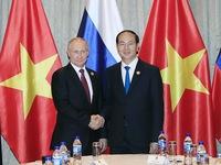 Chủ tịch nước Trần Đại Quang và Tổng thống Nga Putin ra Tuyên bố chung về an ninh thông tin