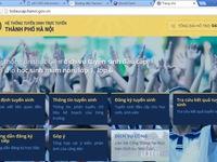Đăng ký trực tuyến tuyển sinh đầu cấp tại Hà Nội khá thông suốt