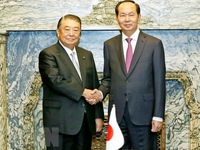 President meets Japanese lower house speaker