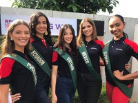 Nguyễn Phương Khánh rạng ngời trong hoạt động bên lề của Miss Earth 2018