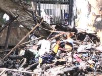 Đà Nẵng kịp thời dập tắt đám cháy điểm tập kết phế liệu