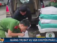 Quảng Trị bắt vụ vận chuyển 4 tạ pháo lậu