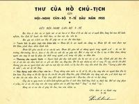 Bộ Y tế: Nhận bản sao Thư của Bác Hồ gửi ngành Y tế năm 1955