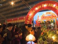 Hàng ngàn du khách dự lễ khai hội đền Trần - Thái Bình