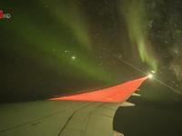 Một hành khách may mắn chứng kiến hiện tượng cực quang khi đi máy bay