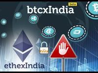 Hai sàn giao dịch tiền ảo tại Ấn Độ ngừng hoạt động