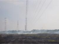 TP.HCM: Cháy lớn dưới chân đường dây điện 220kV Nhà Bè - Phú Mỹ
