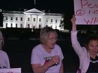 Người dân Mỹ biểu tình phản đối cuộc không kích của Mỹ tại Syria