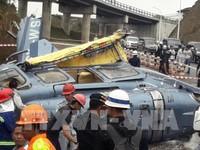 Máy bay trực thăng rơi tại Indonesia, 10 người thương vong