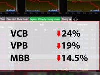 Xu hướng giảm giá các cổ phiếu ngân hàng