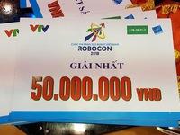 Giải thưởng dành cho các đội tuyển tại VCK Robocon Việt Nam 2018 gồm những gì?