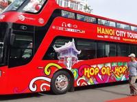 Cận cảnh chiếc xe bus 2 tầng đầu tiên của Hà Nội chính thức đi vào hoạt động