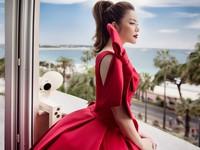 Lý Nhã Kỳ diện váy đỏ rực rỡ, nổi bật tại Cannes