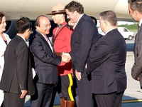 PM arrives in Quebec for G7 Outreach Summit, Canada visit