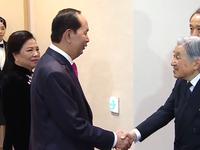 Nhà vua Nhật Bản dự tiệc kỷ niệm 45 năm quan hệ Việt Nam - Nhật Bản