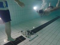 Thú vị giải đấu cờ vua dưới nước