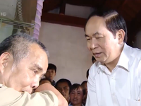Tình cảm nồng ấm của Chủ tịch nước Trần Đại Quang với các tầng lớp nhân dân