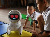 Robot employed in education in China