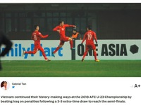 Fox Sports châu Á gọi U23 Việt Nam là 'người tạo nên lịch sử'