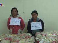 Bắt cặp vợ chồng vận chuyển gần 500 bánh heroin