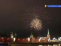 Hàng nghìn người Nga tưng bừng đón năm mới 2018 gần điện Kremlin
