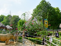 The largest open zoo in the north central Vietnam