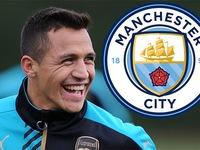 Chuyển nhượng bóng đá quốc tế ngày 09/01/2018: Arsenal đồng ý bán Sanchez cho Man City với giá 30 triệu bảng