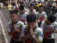 """Thai boys rescued from cave say """"thank you"""""""