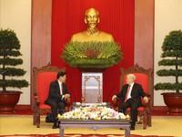 Tổng Bí thư, Chủ tịch nước tiếp Thủ tướng Lào