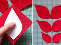 Trổ tài khéo léo với hoa trạng nguyên từ giấy nhún