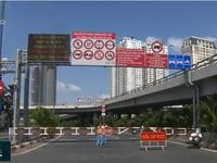 Cấm xe qua hầm sông Sài Gòn: Giao thông tại khu vực cổng hầm không quá căng thẳng