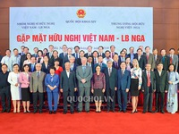 Friendly Vietnam - Russia meeting at National Assembly House