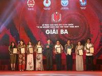 Báo điện tử VTV News giành giải Ba giải Báo chí toàn quốc 'Vì sự nghiệp giáo dục Việt Nam'